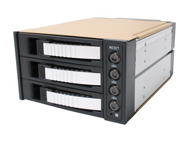 "iStarUSA BPU-230SATA-SILVER 2x5.25"" to 3x3.5"" SAS/SATA 6.0 Gb/s Hot-Swap Cage - Silver  - OEM"