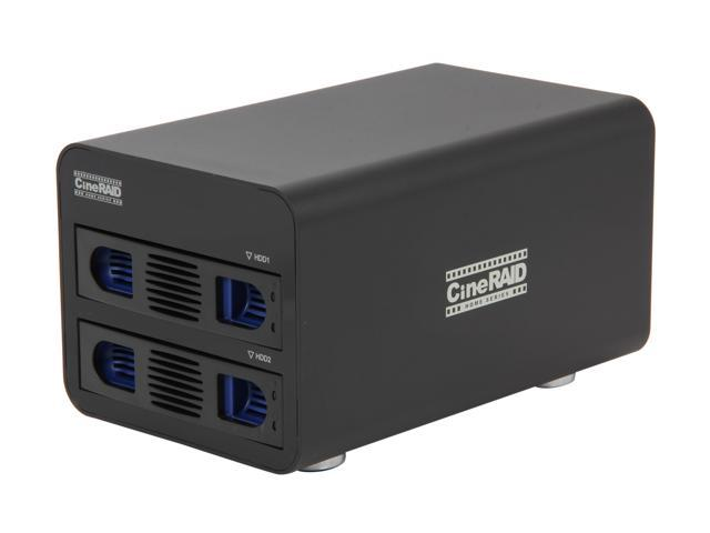 CineRAID CR-H252 Hardware RAID, Supports RAID 0, 1, JBOD 2 3.5