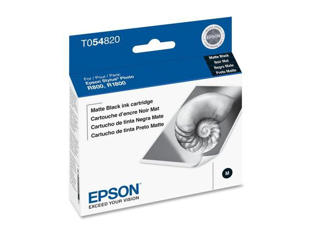 EPSON T054820 UltraChrome Hi-Gloss Ink Cartridge For Stylus Photo R800 Matte Black