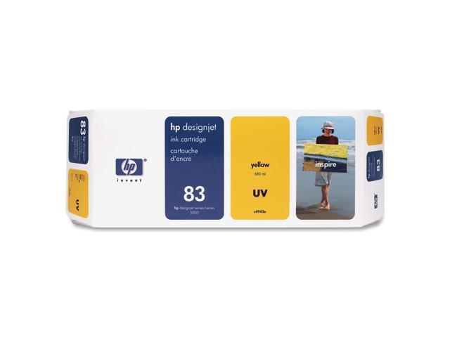 HP C4943A 83 UV Ink Cartridges Yellow
