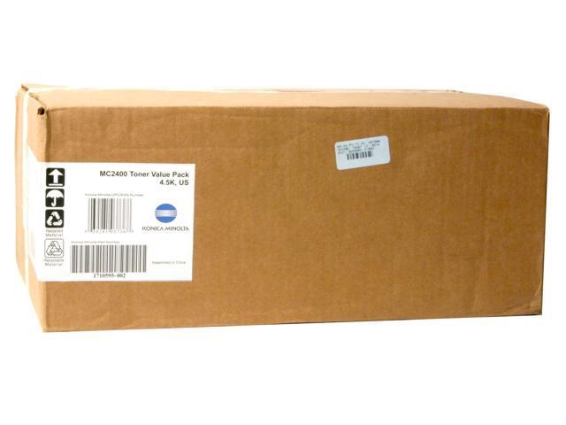 KONICA MINOLTA 1710595-002 Toner Cartridge Value Kit Color