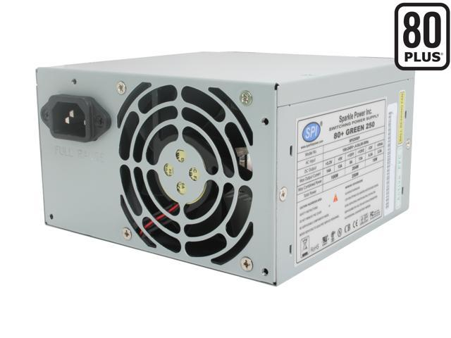 SPARKLE 80+ GREEN 250 R-SPI250EP 250W ATX12V 80 PLUS Certified Active PFC Power Supply