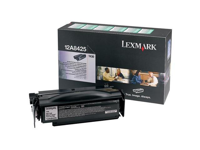 LEXMARK 12A8425 Return Program, High Yield Toner Cartridge Black