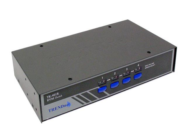 TRENDnet TK-401R 4-Port PS/2 Rack Mount KVM Switch