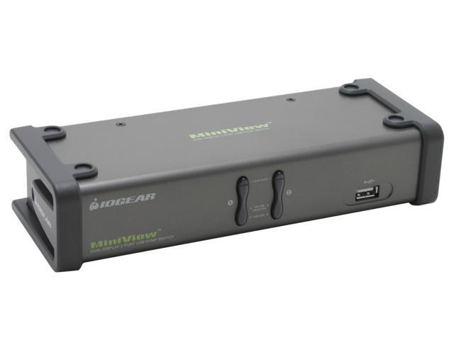 IOGEAR GCS1742 2-Port Dual View KVM Switch w/Audio and USB Peripheral Sharing