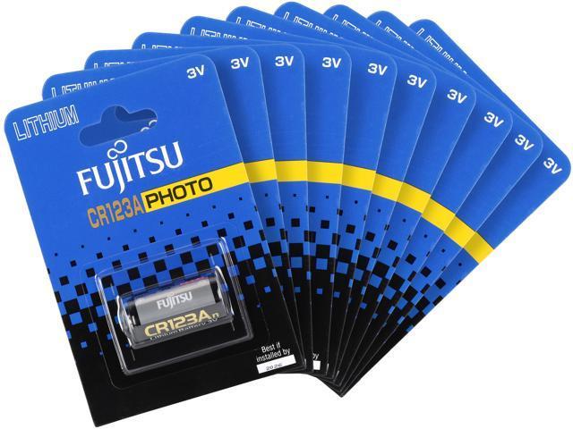 10-Pack Fujitsu CR123A 3-volt Batteries