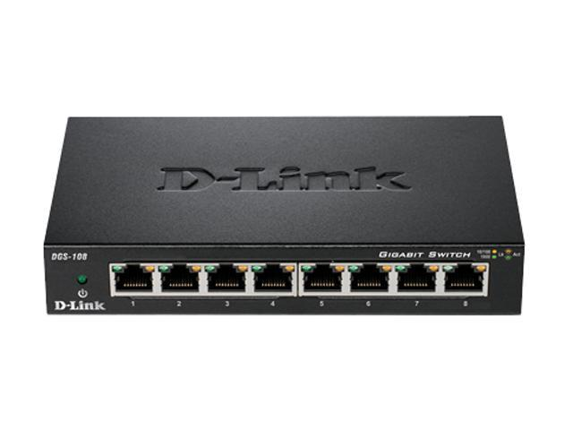 D-Link DGS-108 Unmanaged 8-Port Gigabit Switch