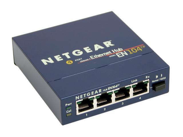 Netgear en104tp 4 port 10mbps ethernet hub - Ethernet cable hub 4 ports ...