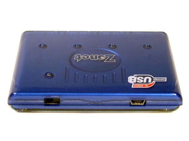 Zonet ZUH2204 4 Ports USB 2.0 Slim Hub with Power Adapter