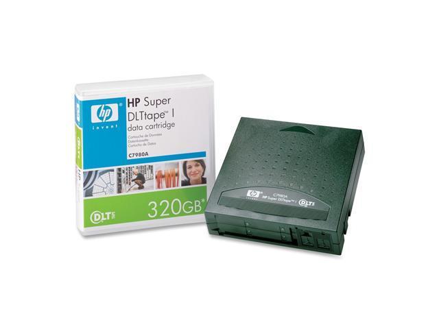 HP C7980A 110GB (native) / 220GB (compressed) on a SDLT 220 Drive  160GB (native) / 320GB (compressed) on a SDLT 320 Drive Super DLTtape I Tape Media 1 Pack