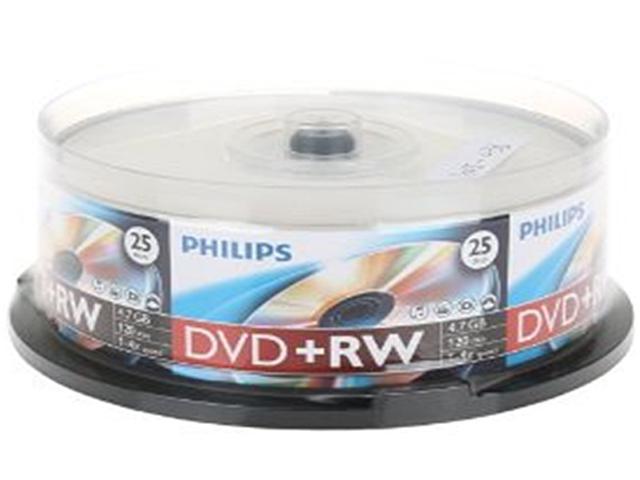 PHILIPS 4.7GB 4X DVD+RW 25 Packs Disc Model DW4S4B25F/17
