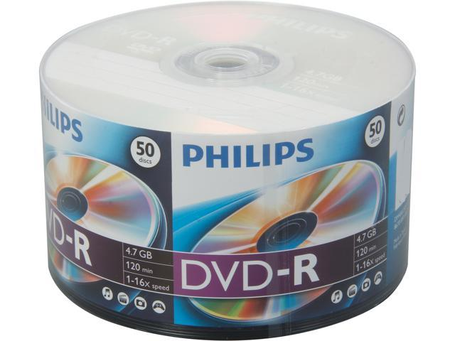 PHILIPS 4.7GB 16X DVD-R 50 Packs Disc Model DM4S6U50F/17
