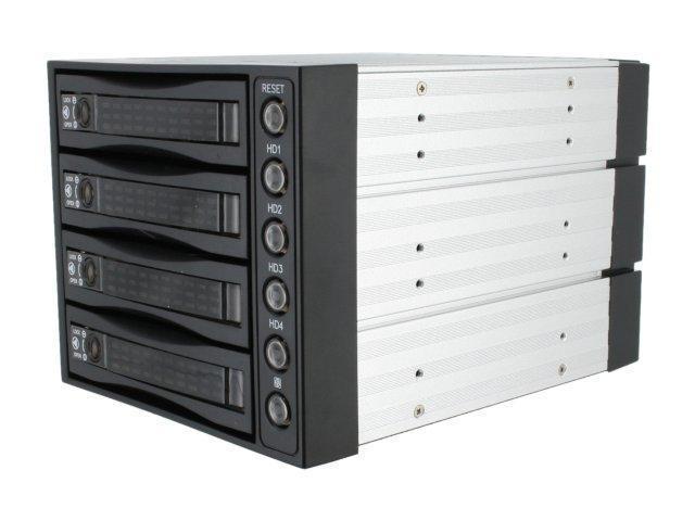 "iStarUSA BPU-340SATA-BPL 3 x 5.25"" to 4 x 3.5"" 2.5"" SAS SATA 6 Gbps HDD SSD Hot-swap Rack - OEM"