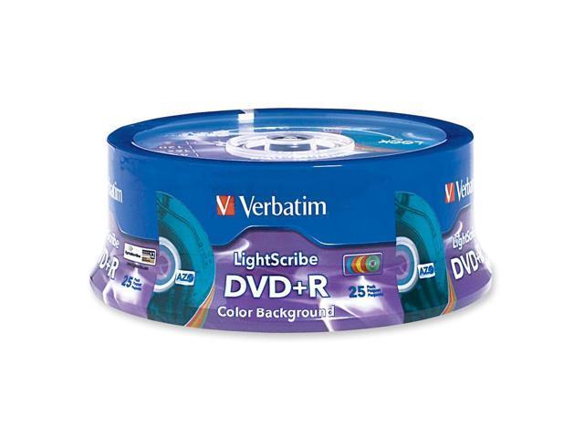 Verbatim 4.7GB 16X DVD+R LightScribe 25 Packs 5 Colors Disc Model 96432