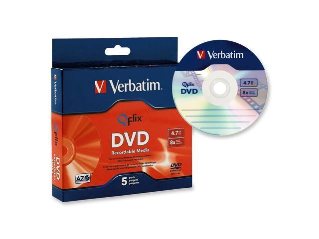 Verbatim 4.7GB 8X DVD-R 5 Packs Qflix Media Model 96747