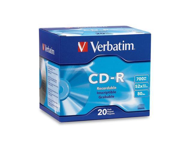 Verbatim 700MB 52X CD-R 20 Packs Media Model 94936