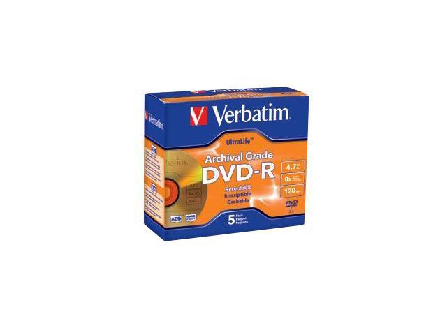 Verbatim 4.7GB 8X DVD-R 5 Packs Disc Model 96320