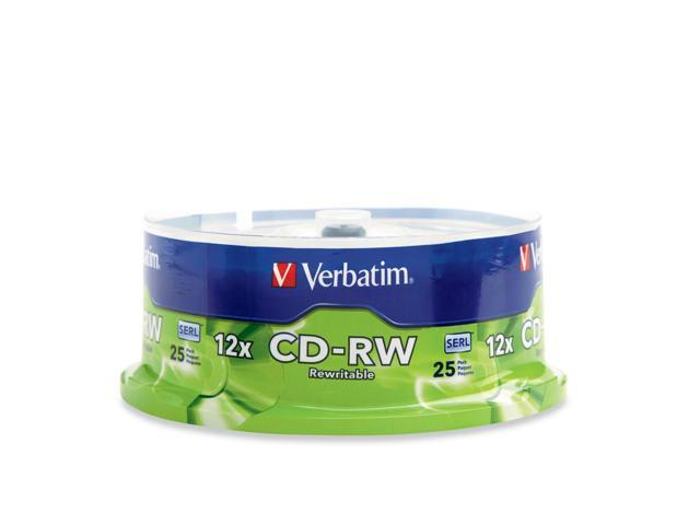 Verbatim 700MB 12X CD-RW 25 Packs Media Model 95155