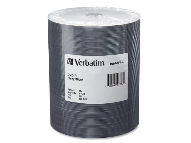 Verbatim 4.7GB 16X DVD-R 100 Packs DataLife Plus Media Model 97017
