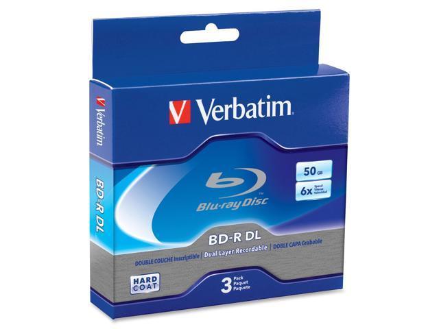 Verbatim 50GB 6X BD-R DL 3 Packs Disc Model 97237