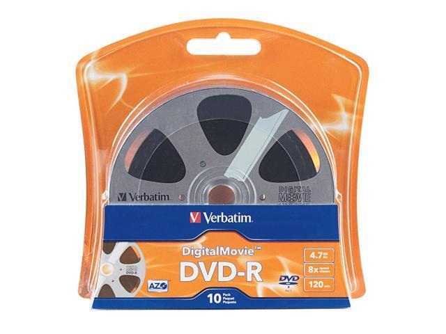 Verbatim 4.7GB 8X DVD-R 10 Packs Disc Model 96856