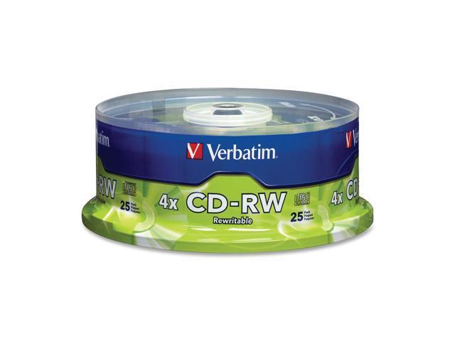 Verbatim 700MB 4X CD-RW 25 Packs Disc Model 95169