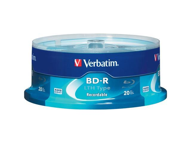 Verbatim 25GB 6X BD-R LTH 20 Packs LTH Type Disc Model 97344 - OEM