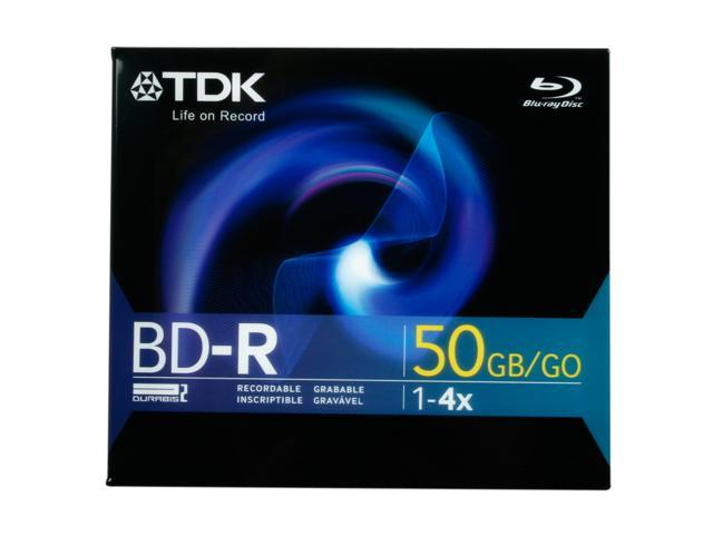TDK 50GB 4X BD-R DL Single Disc Model 49022