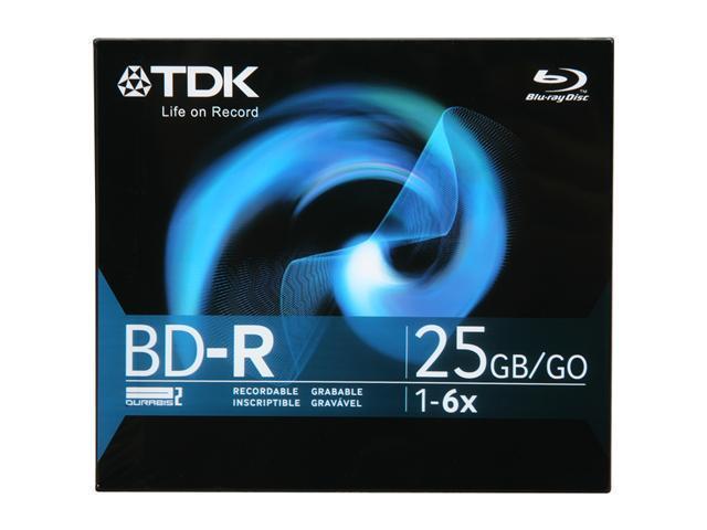 TDK 25GB 6X BD-R Single Disc Model 61682