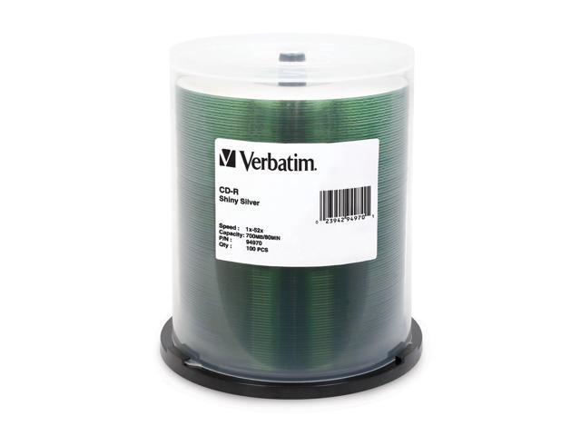 Verbatim Generic 700MB 52X CD-R 100 Packs Disc Model 94970