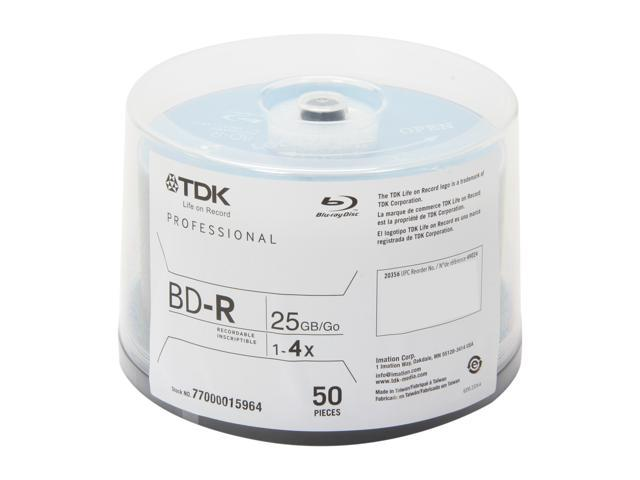 TDK 25GB 4X BD-R 50 Packs Disc Model 49024