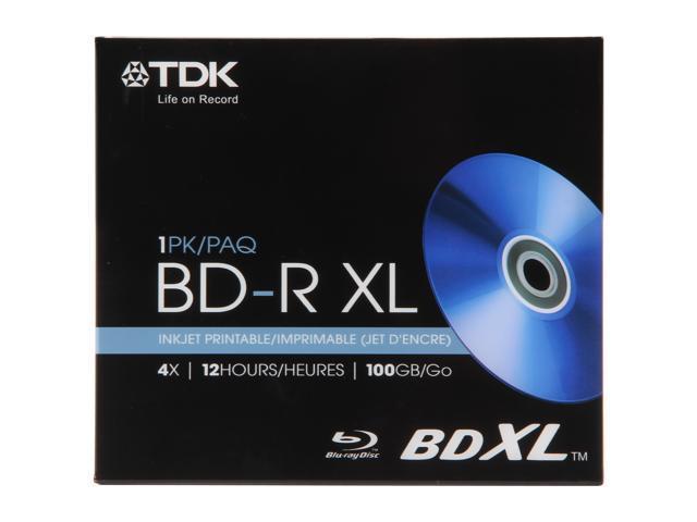 TDK 100GB 4X BD-XL Inkjet Printable Single Disc Model 61928