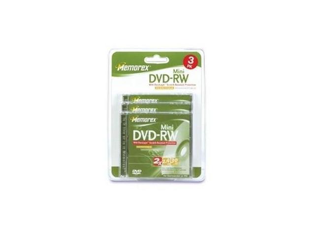 memorex 1.4GB 2X DVD-RW 3 Packs Mini Disc Model 05620