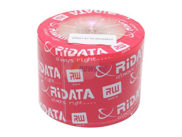 RiDATA 4.7GB 16X DVD+R 50 Packs Disc Model DRD+4716-RDSM50