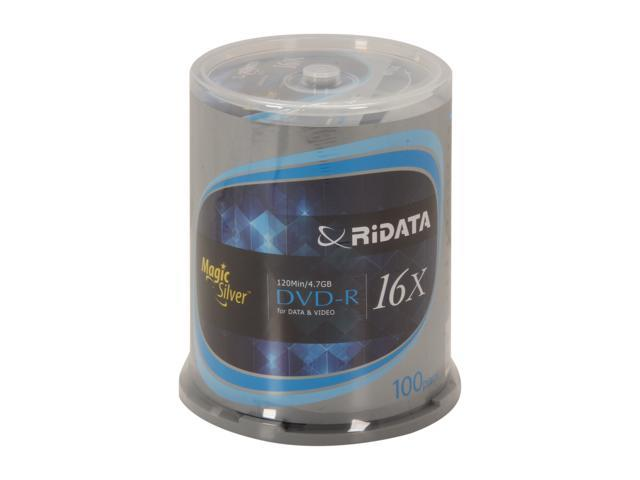 RiDATA 4.7GB 16X DVD-R 100 Packs Cake Box, Magic Silver Logo Model DRD-4716-RDMCB100