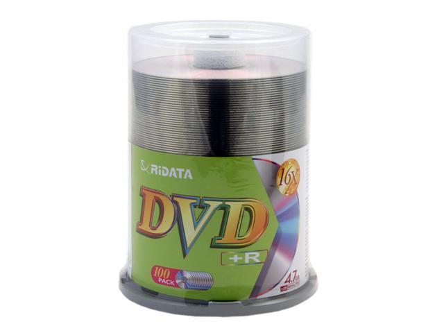 RiDATA 4.7GB 16X DVD+R 100 Packs Disc Model DRD+4716-RDCB100