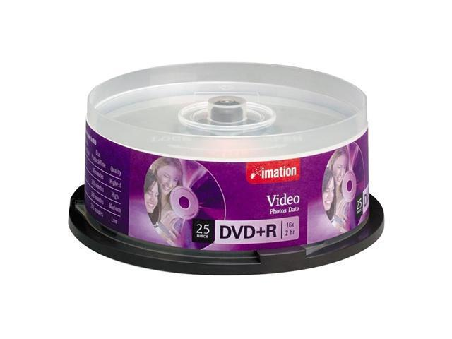 imation 4.7GB 16X DVD+R 25 Packs Disc Model 17194