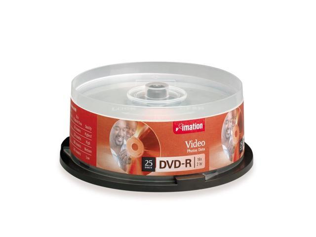 imation 4.7GB 16X DVD-R 25 Packs Disc Model 17340