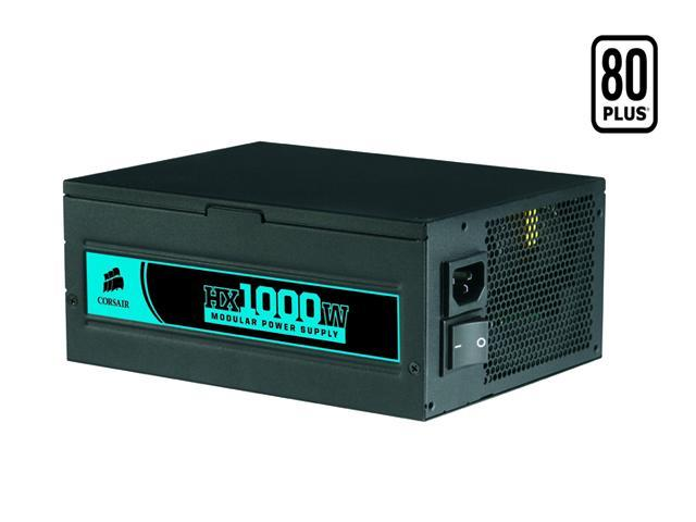 CORSAIR HX Series CMPSU-1000HX 1000W ATX12V 2.2 / EPS12V 2.91 SLI Ready CrossFire Ready 80 PLUS Certified Modular Active PFC Compatible with Core i7 Power Supply