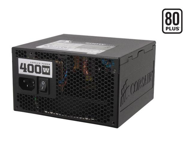 CORSAIR CMPSU-400CX 400W ATX12V V2.2 80 PLUS Certified Compatible with Core i7 Power Supply