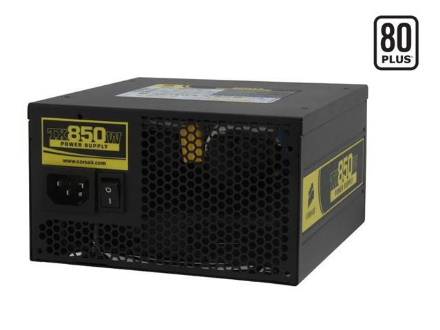 CORSAIR Enthusiast Series CMPSU-850TX 850W ATX12V v2.2 / EPS12V v2.91 SLI Certified CrossFire Ready 80 PLUS Certified Active PFC Power Supply