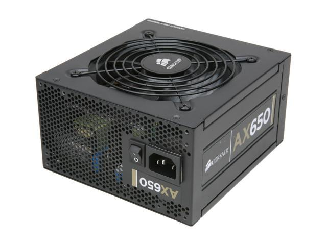 CORSAIR Professional Series Gold AX650 650W ATX12V v2.31 / EPSV12 v2.92 80 PLUS GOLD Certified Full Modular Active PFC High Performance Power Supply