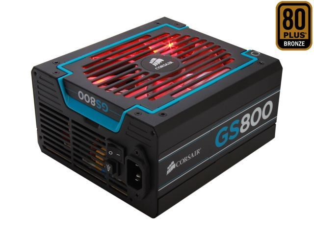CORSAIR Gaming Series GS800 800W ATX 12V v2.3 SLI Ready CrossFire Ready 80 PLUS BRONZE Certified Active PFC Power Supply