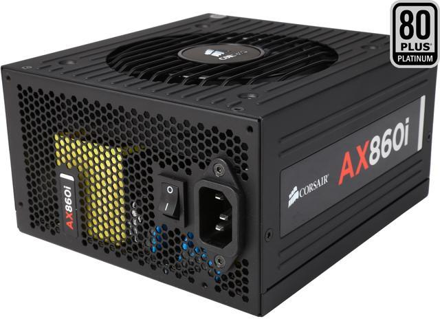 Corsair Certified AXi Series AX860i 860W SLI Ready CrossFire Ready 80 Plus Platinum Power Supply
