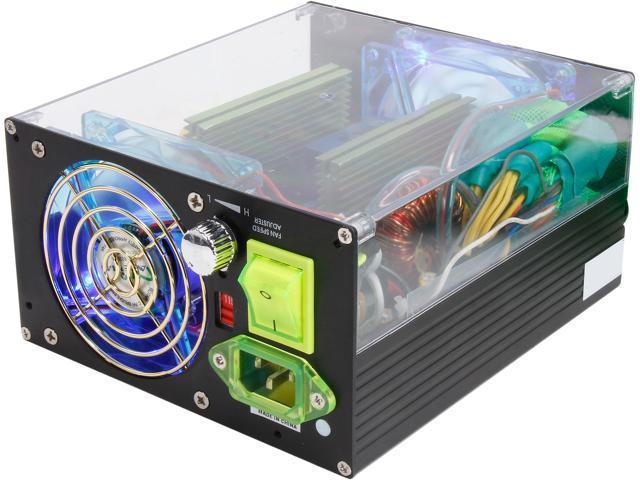 APEVIA See-Through ATX-AS500W-BK 500W ATX12V Power Supply