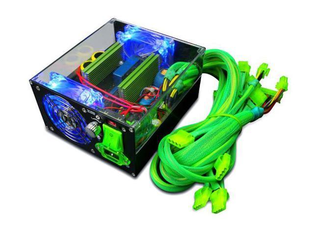 APEVIA ICEBERG ATX-IB680W-GN 680W ATX12V / EPS12V SLI Ready ATX12V & EPS12V Power Supply Power Supply With 3-Color LED Lights