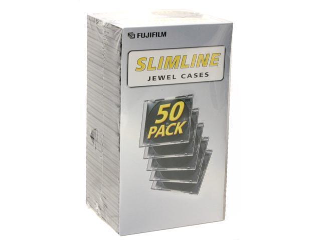 FUJIFILM 25367050 50-Pack Slimline Jewel Cases