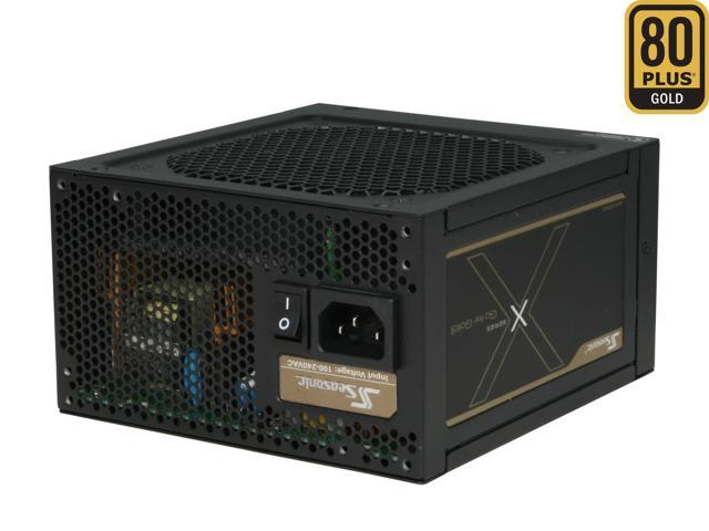 SeaSonic X660 (SS-660KM) 660W ATX12V V2.3/EPS 12V V2.91, 80Plus Gold Certified, Active PFC Power Supply