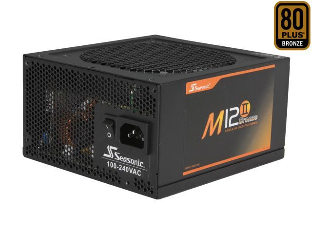 SeaSonic M12II 650 SS-650AM 650W ATX12V / EPS12V SLI Ready 80 PLUS BRONZE Certified Modular Active PFC Semi-modular Power Supply New 4th Gen CPU Certified Haswell Ready