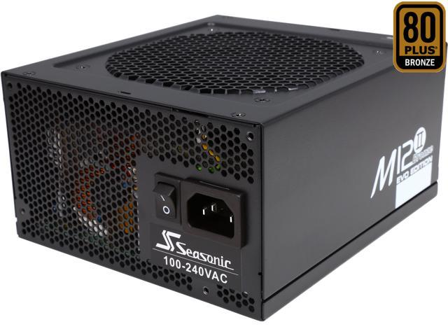 SeaSonic M12II 750 SS-750AM2 750W ATX12V / EPS12V SLI Ready 80 PLUS BRONZE Certified Modular Active PFC Full-modular Power Supply New 4th Gen CPU Certified Haswell Ready